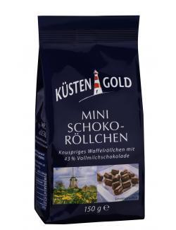 Küstengold Mini Schoko-Röllchen (150 g) - 4250426217315