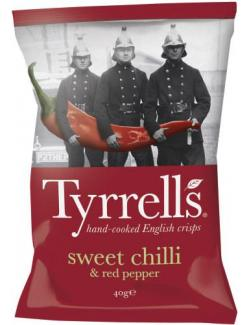 Tyrrells Sweet Chilli&Red Pepper Kartoffelchips (150 g) - 5060042641413