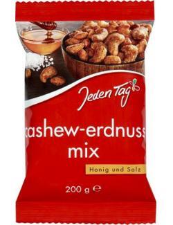 Jeden Tag Cashew-Erdnuss- Mix Honig/Salz