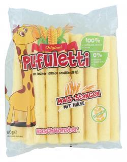 Naschmonster Pufuletti Mais-Stangen mit Hirse