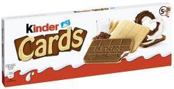 Kinder Cards Kekswaffel mit Milch und Kakao