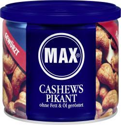 Max Cashews pikant ohne Fett & Öl geröstet