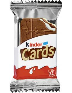 Kinder Cards Kekse mit Milch und Kakao 2er