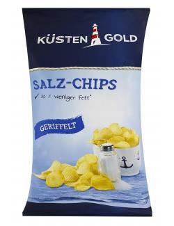 Küstengold Leichte Salz Chips geriffelt