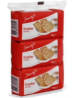 Jeden Tag Cracker mit Salz