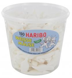 Haribo Weiße Mäuse (1,05 kg) - 4001686407066