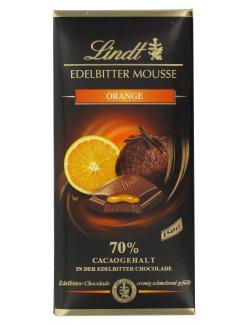 Lindt Edelbitter Mousse Orange 70% (150 g) - 4000539014000