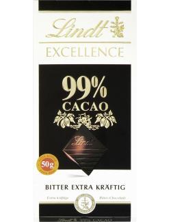 Lindt Excellence Bitter extra kräftig 99% Cacao (50 g) - 3046920028721