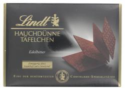 Lindt Hauchdünne Täfelchen edelbitter (125 g) - 4000539204401