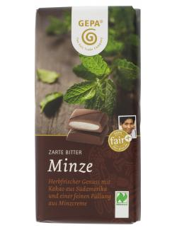 Gepa Bio Minz Schokolade Zartbitter (100 g) - 4013320114995