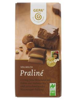 Gepa Bio Praliné Schokolade Vollmilch (100 g) - 4013320115145