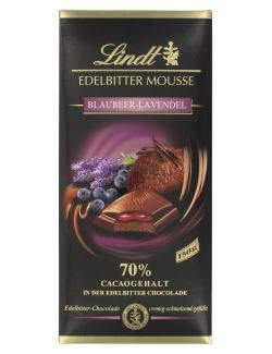Lindt Edelbitter Mousse Blaubeer-Lavendel 70% (150 g) - 4000539019807