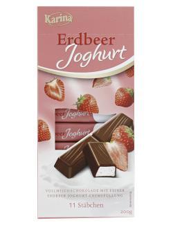 Karina Erdbeer Joghurt Schokoriegel (200 g) - 4000411026886