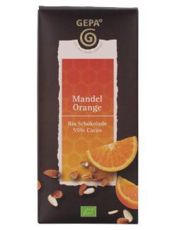 Gepa Bio Mandel Orange Schokolade (100 g) - 4013320205334
