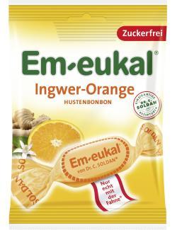 Em-eukal Hustenbonbons Ingwer-Orange zuckerfrei