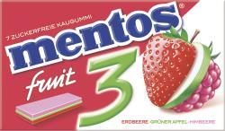 Mentos Fruit 3 Erdbeere-Grüner Apfel-Himbeere (33 g) - 80880974