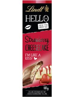 Lindt Hello Strawberry Cheesecake Tafel (100 g) - 4000539221903