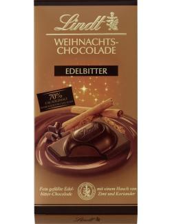 Lindt Weihnachts-Chocolade Edelbitter 70%