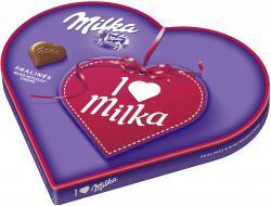 Milka I Love Milka Pralinés Geschenkherz Nuss-Nougat-Créme (187 g) - 7622300215286