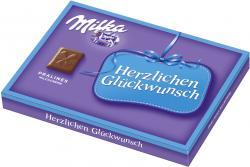 Milka Herzlichen Glückwunsch Pralinés Milchcréme (110 g) - 7622210079473