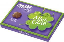 Milka Pralinés à la dessert au chocolat Geschenkschachtel Alles Gute