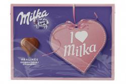 Milka Pralinés Erdbeer-Crème Geschenkschachtel I love Milka (110 g) - 7622210146069