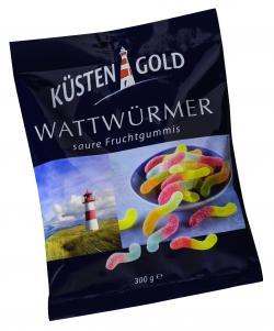 Küstengold Wattwürmer Saure Fruchtgummis (300 g) - 4250426212679