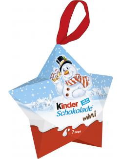 Kinder Schokolade Mini Stern