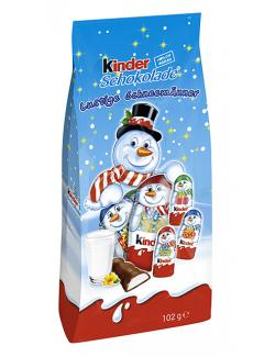 Kinder Schokolade Lustige Schneemänner