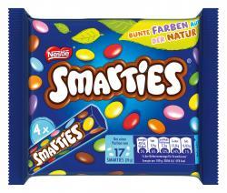 Nestlé Smarties Multipack kleine Rolle bunte Schokolinsen  Hexagonrolle (4 x 38 g) - 7613034670137