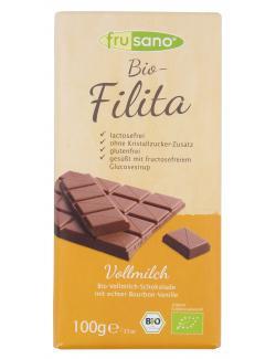 Frusano Filita Vollmilchschokolade mit echter Bourbon-Vanille (100 g) - 4260137741320