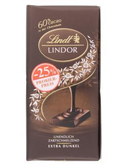 Lindt Lindor extra dunkel 60% Cacao Probierpreis