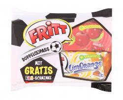 Fritt Doppel(s)pass Kirsch Orange + Fanschminke  (2 x 70 g) - 4000607517204