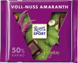 Ritter Sport Vegan Dunkle Voll-Nuss Amaranth