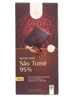 Gepa Bio Schokolade Grand Noir São Tomé 95% (80 g) - 4013320296677