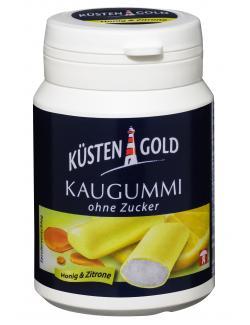 Küstengold Kaugummi ohne Zucker Honig & Zitrone