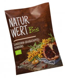 NaturWert Bio Sanddorn-Granatapfel Bonbons