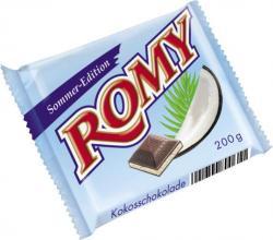 Romy Kokosschokolade Sommer-Edition