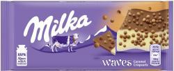 Milka Tafel Waves Caramel Crispearls