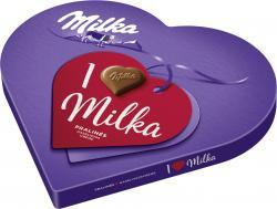 Milka I love Milka Pralinés Haselnusscrème Geschenkherz