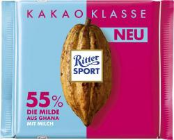 Ritter Sport Kakao Klasse 55% Die Milde aus Ghana