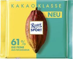 Ritter Sport Kakao Klasse 61% Die Feine aus Nicaragua