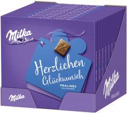 Milka Herzlichen Glückwunsch Pralinés Milchcréme