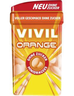 Vivil Minidragees Orange ohne Zucker