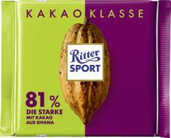 Ritter Sport Kakao Klasse 81% Die Starke aus Ghana