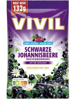 Vivil Hustenbonbons Schwarze Johannisbeere ohne Zucker
