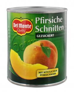 Del Monte Pfirsiche Schnitten mit Pfirsichmark gezuckert (500 g) - 24000160168