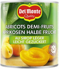 Del Monte Aprikosen halbe Frucht gezuckert