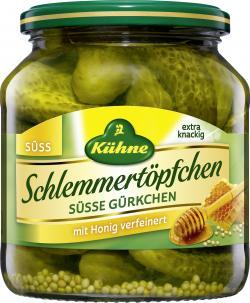 Kühne Schlemmertöpfchen süße Gürkchen (300 g) - 4012200417409