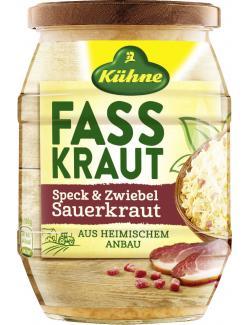 Kühne Fasskraut Sauerkraut mit Speck & Zwiebeln